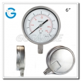 6 All stainless steel bayonet ring oil pressure test gauges