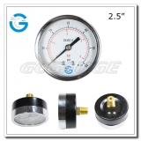 2.5 Economy black steel back connection plating flipping cheap manometer