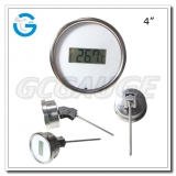 4 inch stainless steel bottom connection  instant read industrial digital thermometer
