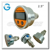 2.5 All stainless steel back connection precision digital pressure gauges