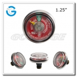 1.25 Spiral tube fire extinguisher pressure gauges with UL