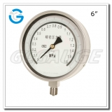 6 All stainless steel bottom mount precision pressure gauges
