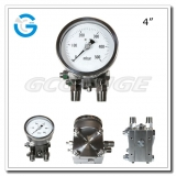 Diaphragm differential pressure gauges for high steady with 4 inch dial all stainless steel material