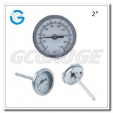 Bimetal dial thermometers 50mm back entry without thread