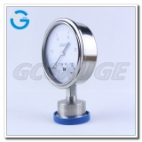 High quality all stainless steel sanitary diaphragm pressure gauge