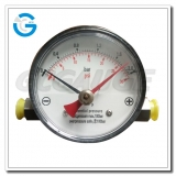 80mm black steel case set pointer differential pressure gauges