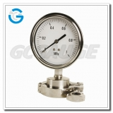 High quality all stainless steel pressure gauges with diaphragm seal
